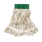 In-House Brand Standard #24 Size WHITE Looped End Cotton Mop Head - 1 Each