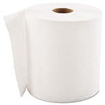 Economy White Hardwound Paper Roll Towels In-House Brand 6 x 800'
