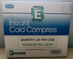"Emerald Model ICE45 - Single Use Instant Cold Compress Ice Packs - 4"" x 5"" - 24 Pack"