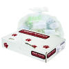 "JAGUAR PLASTICS 10 - 13 - 15 - 16 Gallon Trash Bags White 24 x 32"" .50 Mil 500ct"