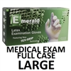 LARGE Latex Medical Exam Gloves Powder Free