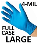 LARGE Blue Nitrile Gloves Powder Free
