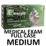 MEDIUM Latex Medical Exam Gloves Powder Free