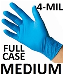 MEDIUM Blue Nitrile Gloves Powder Free