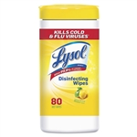 Lysol Wipes Model RAC 77182CT, Disinfectant Disinfecting Wipes, Lemon and Lime Blossom Scent 6 x 80ct.