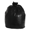 "39 - 40 - 45 Gallon Black Trash Bags 23"" x 17"" 46"" - 40"" Wide x 46"" Long 1-MIL - Flat Packed - 100 Bags"