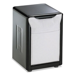 Model SJM H985BK - San Jamar Table-top Low Fold Paper Napkin Dispenser Black - 1 Each