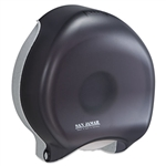 "San Jamar Single 9"" Jumbo Roll Toilet Tissue Paper Dispenser Black Pearl Color - 1 Each"