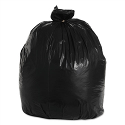 "50 - 55 - 56 - 60 Gallon Black Trash Bags - 43"" Wide x 47"" Long 2-MIL - Flat Packed - 100 Bags"