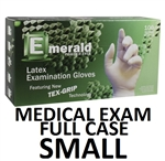 SMALL Latex Medical Exam Gloves Powder Free