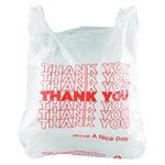In-House Brand Plastic Thank You T-Shirt T-Sack Bags - 500ct