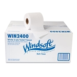 WIN2400 WINDSOFT Toilet Paper Recycled 2-Ply Toilet Tissue - 24 x 400ct