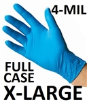 X-LARGE Blue Nitrile Gloves Powder Free