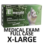 X-LARGE Latex Medical Exam Gloves Powder Free
