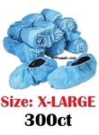 Disposable Blue Anti-Skid Shoe Cover Booties 300ct - X-LARGE