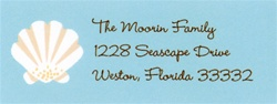 Seashell Address Labels