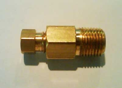 "44756  1/8""NPT - 1/8""T Straight Compression Fitting"