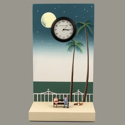 Handpainted Beach Clock