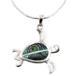 Abalone Turtle Necklace