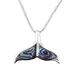 Abalone Whale's Tail  Necklace