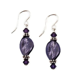 Plum Glass Earrings SS