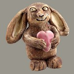 Bunny with Heart Statue