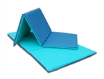 Soft, woven back vinyl covered, colorful 1-inch polyfoam rest mats.