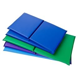 Soft, woven back vinyl covered 2-inch polyfoam rest mats with a smaller footprint for younger children.