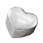 Silver Heart Box - Engraved