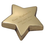 Gold Star Paper Weight