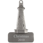Engraved Lighthouse Pewter Ornament
