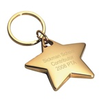 Personalized Gold Star Key Ring