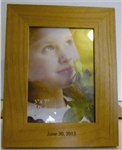 5 X 7 Engraved Wood Photo Frame