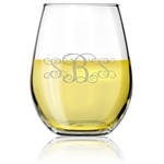 Stemless Wine Glass Personalized