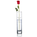 Engraved Glass Bud Vase - Plum or Clear