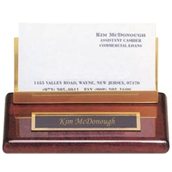 Engraved Wood Business Card Holder