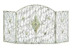 "Jeremiah Shabby White 56"" Fireplace Screen"