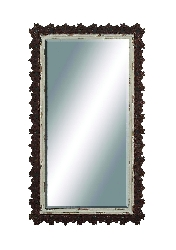 Emma Rectangle Jagged Wood Wall Mirror