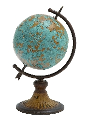 Ethan Antique Globe Atlas In A Rustic Design