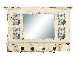Lucas Wall Mirror with Hooks