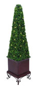Zoey Artificial Led Boxwood Topiary (Small)