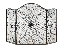 Austin Tuscan Scroll Fireplace Screen