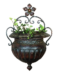 Sarah Copper Bronze Wall Planter 18x12