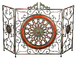 Colton Tuscan Sun Fireplace Screen