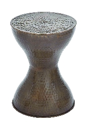 Brayden Tuscan Hammered Metal Stool