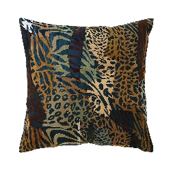 Isabelle Leather Animal Print Pillow