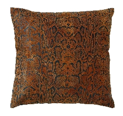 Ayden Leather Snake Print Pillow