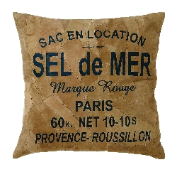 Allison 'sel De Mer' Leather Pillow