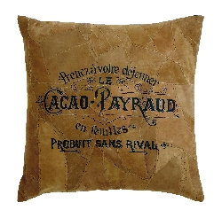 Morgan Tan Cacao Payraud Leather Pillow