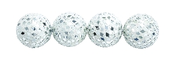 Isla Silver Colored Mirror Mosaic Ball Set Four